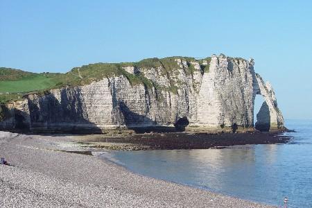 エトルタ (Etretat) の断崖