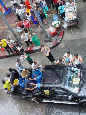 水掛祭り バンコク